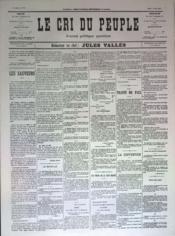 Cri Du Peuple (Le) N°76 du 16/05/1871 - Couverture - Format classique