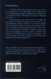 L'attachement - 4ème de couverture - Format classique