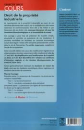 Droit de la propriété industrielle (3e édition) - 4ème de couverture - Format classique