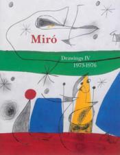 Joan Miro:Drawings Vol4 (Vente Ferme) - Couverture - Format classique