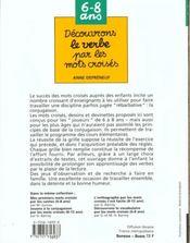 Decouvrons Le Verbe Par Les Mots Croises - 4ème de couverture - Format classique