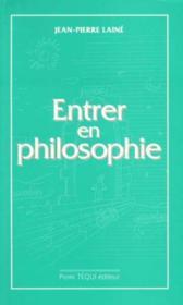 Entrer en philosophie - Couverture - Format classique