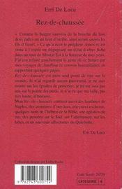 Rez-De-Chaussee - 4ème de couverture - Format classique