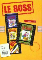 Le Boss T.2 ; On Vous Ecrira - 4ème de couverture - Format classique