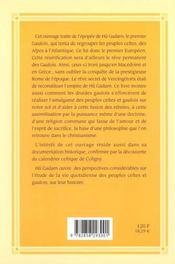 Tu Gadarn ; Le Premier Gaulois Quand Les Celtes Et Les Gaulois Firent Alliance - 4ème de couverture - Format classique
