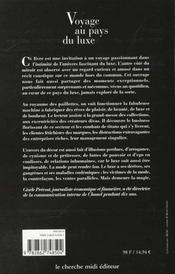 Voyage Au Pays Du Luxe - 4ème de couverture - Format classique