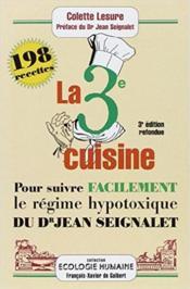 Troisieme Cuisine - 3 Eme Edition - Couverture - Format classique