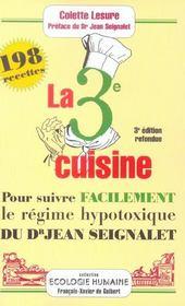 Troisieme Cuisine - 3 Eme Edition - Intérieur - Format classique