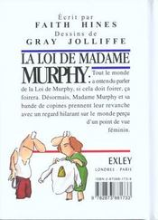 La loi de madame murphy - 4ème de couverture - Format classique