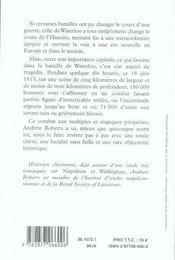 Waterloo, 18 juin 1815 ; le dernier pari de napoléon - 4ème de couverture - Format classique