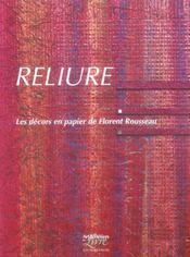 Reliure ; les décors en papier - Intérieur - Format classique