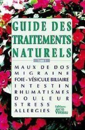 Guide Des Traitements Naturels - T.1 - Couverture - Format classique