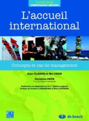 Vente  L'accueil international ; concepts et cas de management  - Clarke