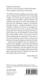Pierre et Blanche ; souvenirs et documents sur Blanche Reverchon et Pierre Jean Jouve - 4ème de couverture - Format classique