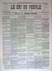 Cri Du Peuple (Le) N°77 du 17/05/1871 - Couverture - Format classique