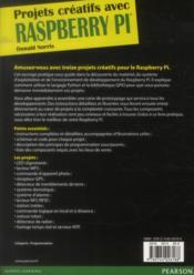 Projets créatifs avec Raspberry Pi - 4ème de couverture - Format classique