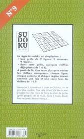 Sudoku du mois de septembre - 4ème de couverture - Format classique