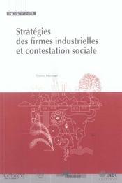 Stratégies des firmes industrielles et contestation sociale - Intérieur - Format classique