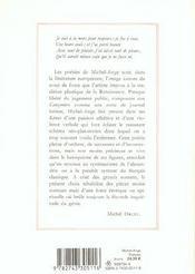 Michel-Ange ; Poesies - 4ème de couverture - Format classique