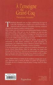 A L'Enseigne Du Grand-Coq - 4ème de couverture - Format classique