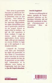 300 Qcm De Grammaire Francaise - 4ème de couverture - Format classique