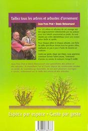 Taillez Tous Les Arbres Et Arbustes D'Ornement - 4ème de couverture - Format classique