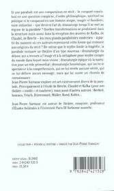 Parabole Ou L'Enfance Du Theatre (La) - 4ème de couverture - Format classique