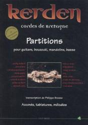 Kerden ; cordes de Bretagne ; partitions pour guitare, bouzouki, mandoline, basse ; accords, tablatures, mélodies - Couverture - Format classique