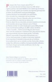 Franc-Macon, Pourquoi ? - 4ème de couverture - Format classique