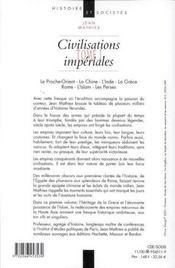 Civilisations Imperiales T.1 ; De La Chine Ancienne Aux Etats-Unis - 4ème de couverture - Format classique