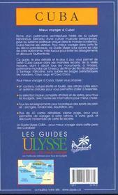 Guide Ulysse ; Cuba ; 3e Edition - 4ème de couverture - Format classique