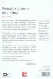Portraits-souvenirs de cin?ma - 4ème de couverture - Format classique