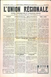 Union Regionale (L') N°1129 du 18/04/1940 - Couverture - Format classique
