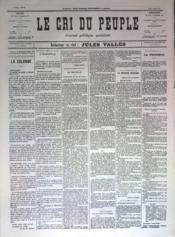 Cri Du Peuple (Le) N°78 du 18/05/1871 - Couverture - Format classique