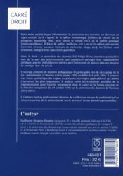 La protection des données à caractère personnel ; la loi informatique et libertés - 4ème de couverture - Format classique