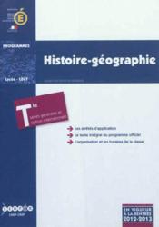 Histoire/Geographie - Terminales Series Generales Et Option Internationale - Couverture - Format classique