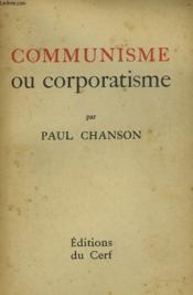 Du Communisme Aucorporatisme - Couverture - Format classique