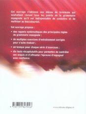 En route vers le bac ; espagnol ; spécial grammaire (2e édition) - 4ème de couverture - Format classique