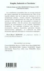 Structure Des Villes ; Entreprises Et Marches Urbains - 4ème de couverture - Format classique