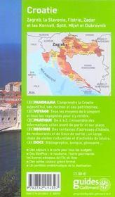 Geoguide ; Croatie (édition 2005/2006) - 4ème de couverture - Format classique