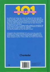 101 Questions Reponses ; Comment Cela Fonctionne-T-Il - 4ème de couverture - Format classique