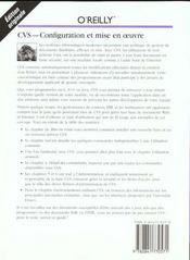 Cvs : Configuration Et Mise En Oeuvre - 4ème de couverture - Format classique
