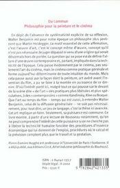 Du Commun ; Philosophie Pour La Peinture Et Le Cinema - 4ème de couverture - Format classique