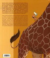 Les dessous de la girafe - 4ème de couverture - Format classique