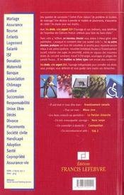 Memento Pratique ; Vos Droits, Votre Argent (Edition 2005) - 4ème de couverture - Format classique