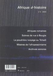 Afrique Et Histoire N.3 (édition 2005) - 4ème de couverture - Format classique