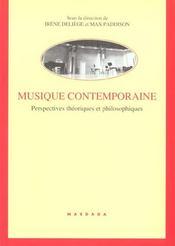 Musique Contemporaine-Perspective Theorique Et Philosophique - Intérieur - Format classique