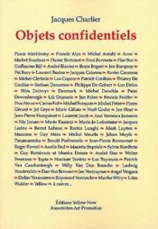 Objets Confidentiels - Couverture - Format classique