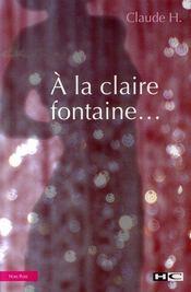 À la claire fontaine - Intérieur - Format classique