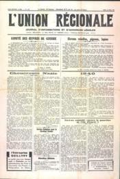 Union Regionale (L') N°1130 du 25/04/1940 - Couverture - Format classique